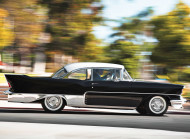 The El Morocco was a custom creation from a Detroit-based company (R. Allender & Co).  1956 - 57 Chevrolets were modified with custom finwork and trim to create a look that matched period Cadillacs, on a smaller scale.