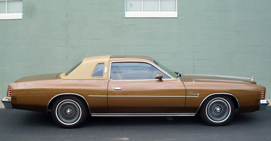 "8th place  (2-way tie at 46.6%)  1975-79 Chrysler Cordoba (length 215.3"", wheelbase 115"")"