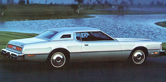 "8th place (2-way tie at 46.6%) 1974-76 Ford Thunderbird (length 225.7"", wheelbase 120.4"")"