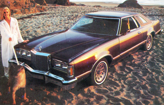 "7th place (2-way tie at 47.0%) 1977-79 Mercury Cougar coupe (length 215.5"", wheelbase 114"")"