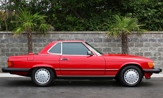 "9th place  (2-way tie at 46.4%)  1974-89 Mercedes 450/380/560SL (length 180.3"", wheelbase 96.7"")"