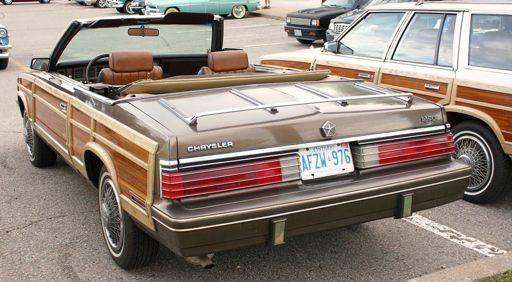 1984 Chrysler Lebaron Town And Country Convertible Tail