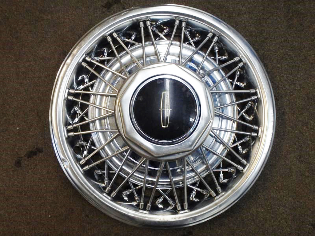 lincoln, wire wheel cover