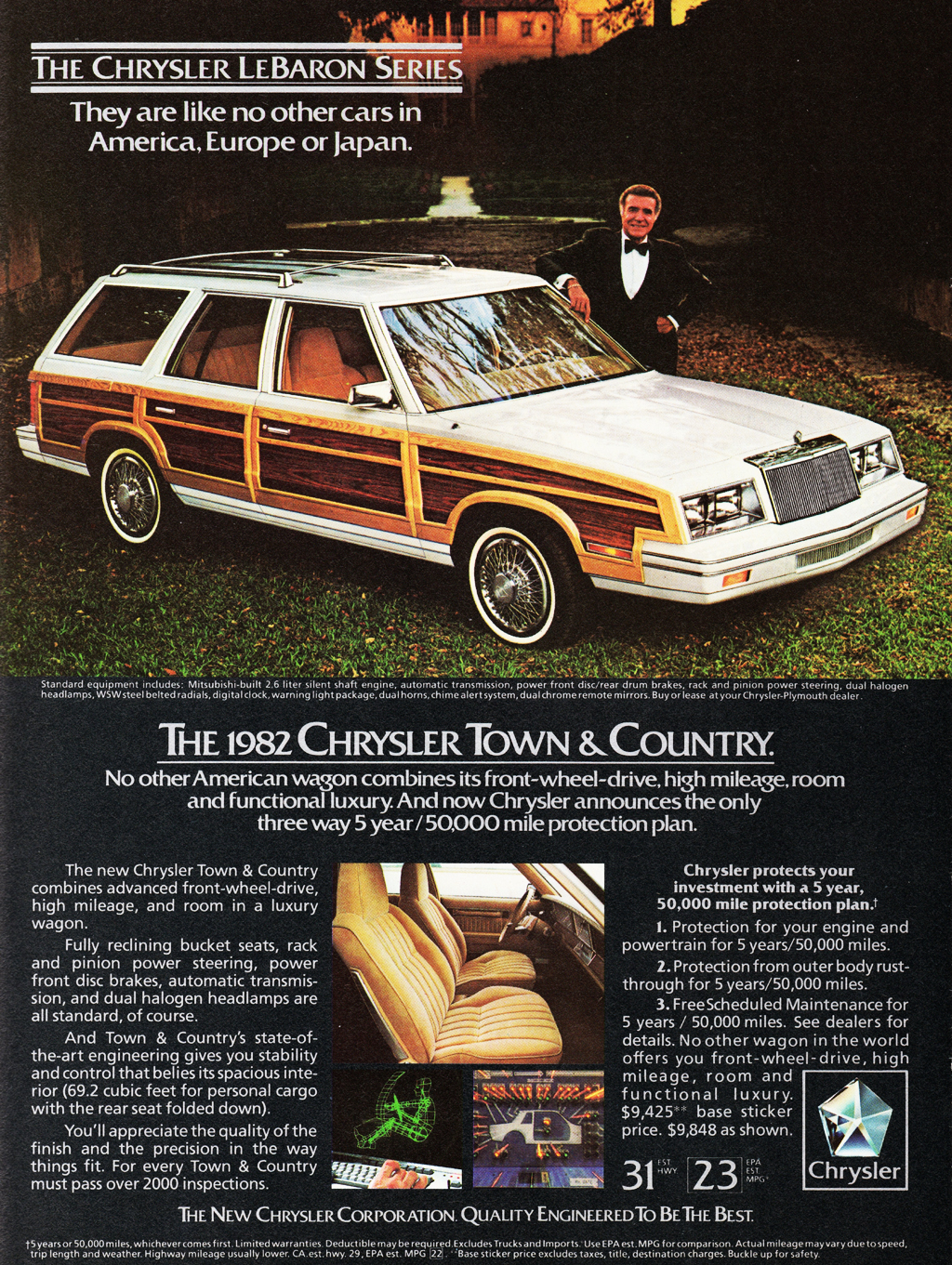1982 Chrysler LeBaron Town And Country Ad