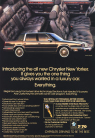 1988, chrysler, new yorker, ad