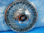 13- and 14-inch versions of these wire wheel covers were offered on 1986-90 GM small cars, and on 1987-later midsize models.