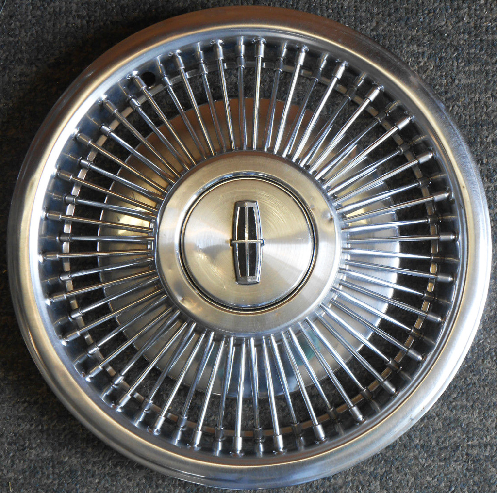 1988, lincoln, continental, wire wheel cover