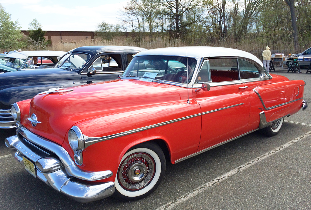 1953 Oldsmobile 98 With Wire Wheel Covers At The 2014 AACA