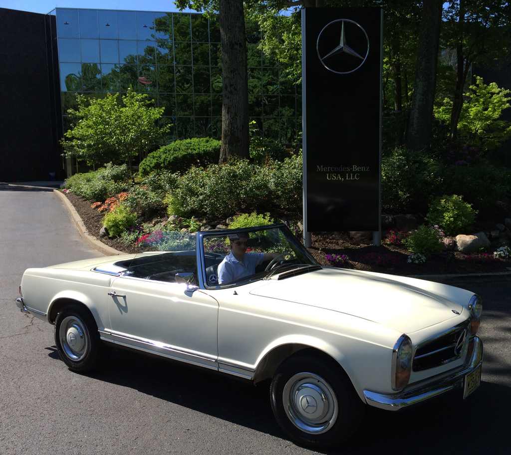 1967 mercedes 250sl at the 2014 june jamboree in montvale for Mercedes benz montvale nj