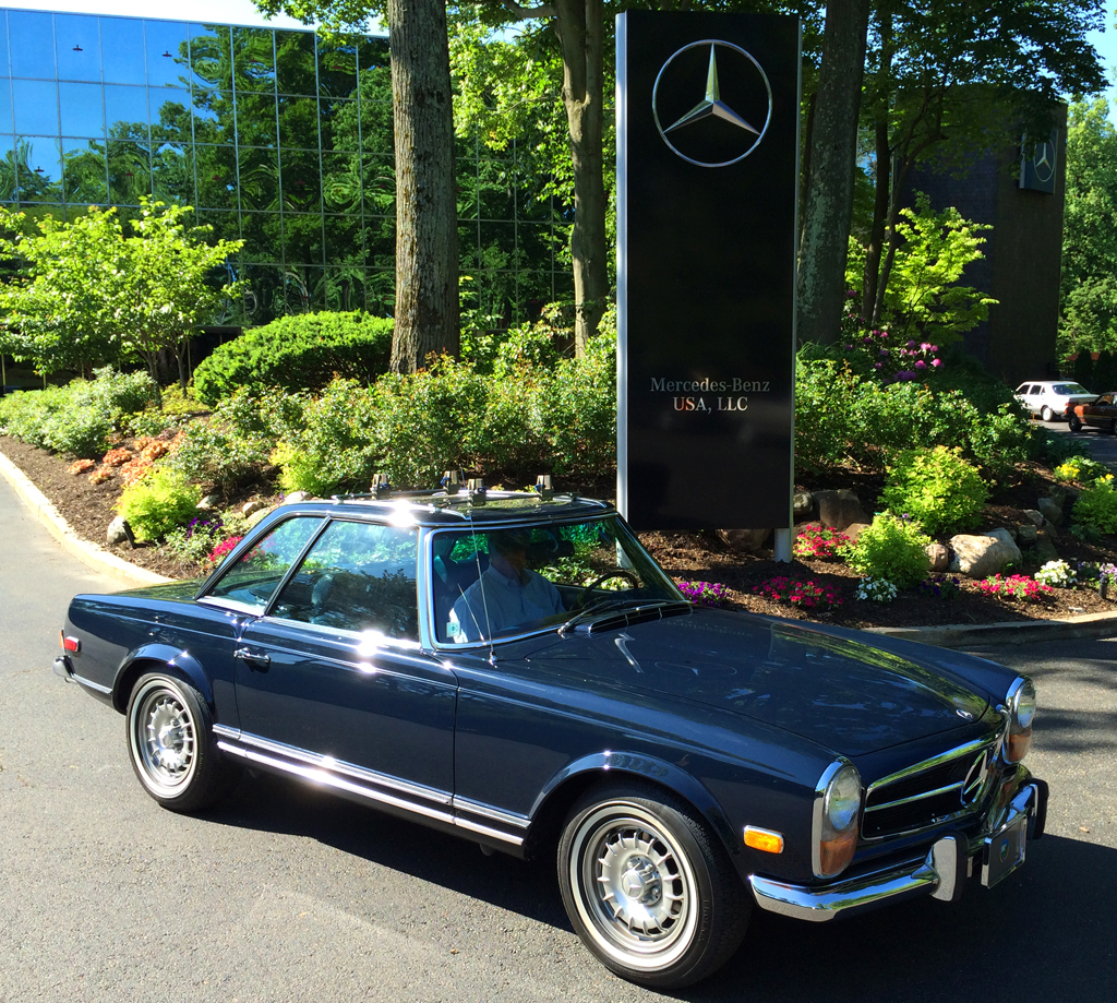 1970 mercedes 280sl at the 2014 june jamboree in montvale for Mercedes benz montvale nj