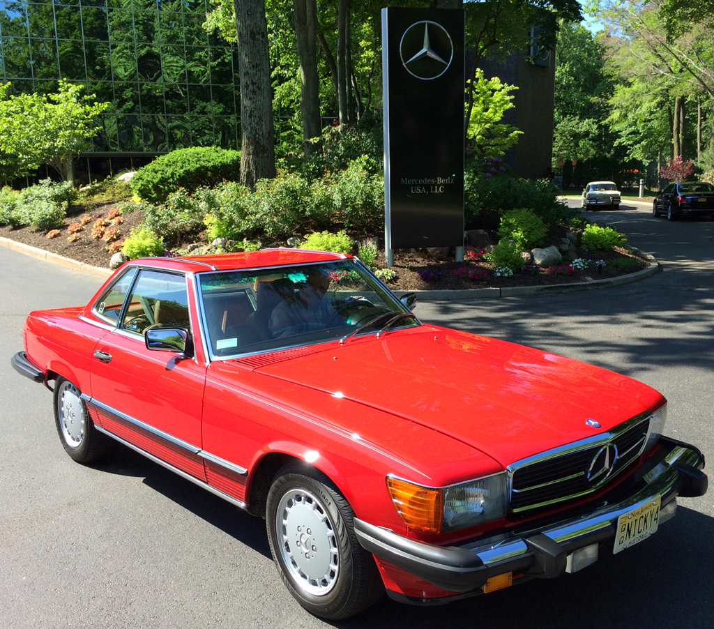 1987 mercedes 560sl at the 2014 june jamboree in montvale for Mercedes benz montvale nj