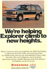 ford, explorer, firestone, 1993, rollovers, ad, advertisement