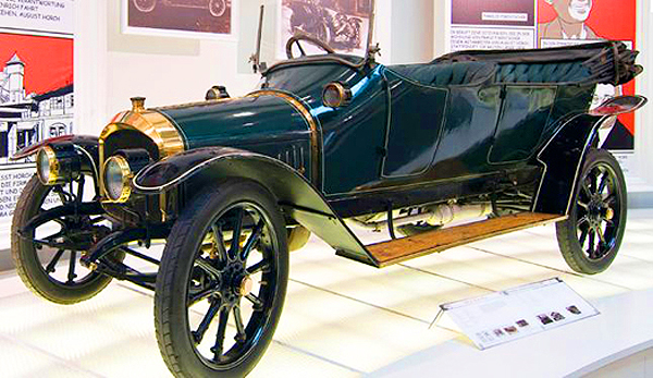 This 1910 Type A was the first production model under the Audi nameplate, and features a 22 horsepower four-cylinder engine.  (Photo credit: Sean Connor)