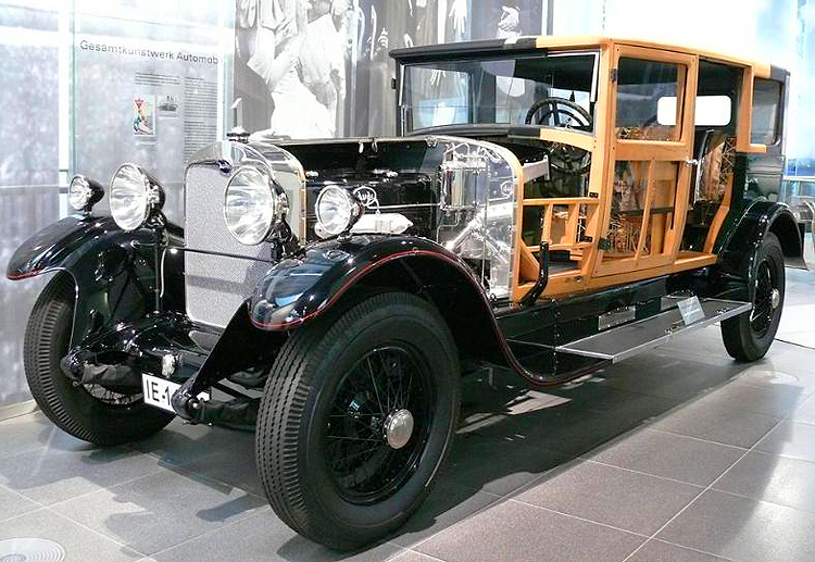 A cutaway display of an Audi Type M which was produced from 1925-28, and featured an inline 6-cylinder in-line engine of 4.7 liters of displacement (69 horsepower). Photo credit: Sean Connor