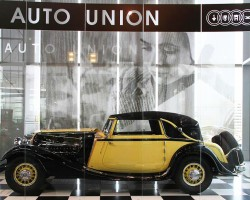 The Horch 670 was produced from 1931 to 1934, and featured a 6.0-liter V-12 engine producing 120 horsepower.  (Photo credit: Sean Connor)