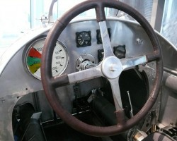 The driver's cockpit of the Auto Union Type C racecar shown in the previous picture.  (Photo credit: Sean Connor)
