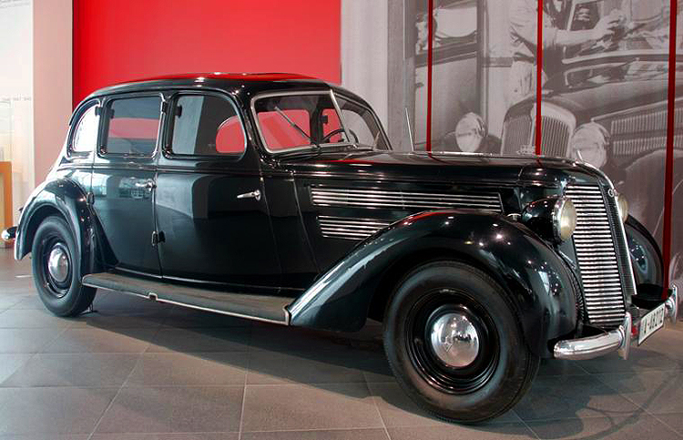 The Audi 920 sedan was produced from 1938-1940 and featured a 75 horsepower inline six-cylinder engine. Unlike smaller Audis of the 1930s, this model featured traditional rear-wheel-drive.  (Photo credit: Sean Connor)