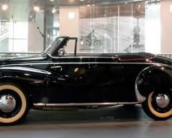Based on the F9 prototype of 1941 (see previous picture), the F89 convertible was produced from 1950-54 and featured a front engine and front-wheel-drive.  (Photo credit: Sean Connor)