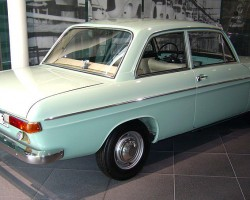 """Known as the """"72"""" in Germany from 1965-69, this model was sold in the U.S. from 1970-72 in two-door and four-door versions, the Super 90 was based on a stillborn DKW model developed before Daimler-Benz sold Auto Union to Volkswagen. This was replaced by the 1973 Audi Fox. Credit: S. Connor"""