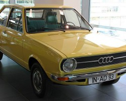 (1973-79 Audi Fox) The Fox / 80 may be the earliest association with Audi that Americans over the age of 40 most have. Powered by a 1.5-liter four cylinder producing 91 horsepower, the Fox was available initially in two- and four-door sedan configuration, followed by a wagon offering for 1975. After 1973 all engines were fuel injected. GTI two-door sport versions were offered from 1978-79. Quad headlamps replaced single ones for 1977.  (Photo credit: S. Connor )