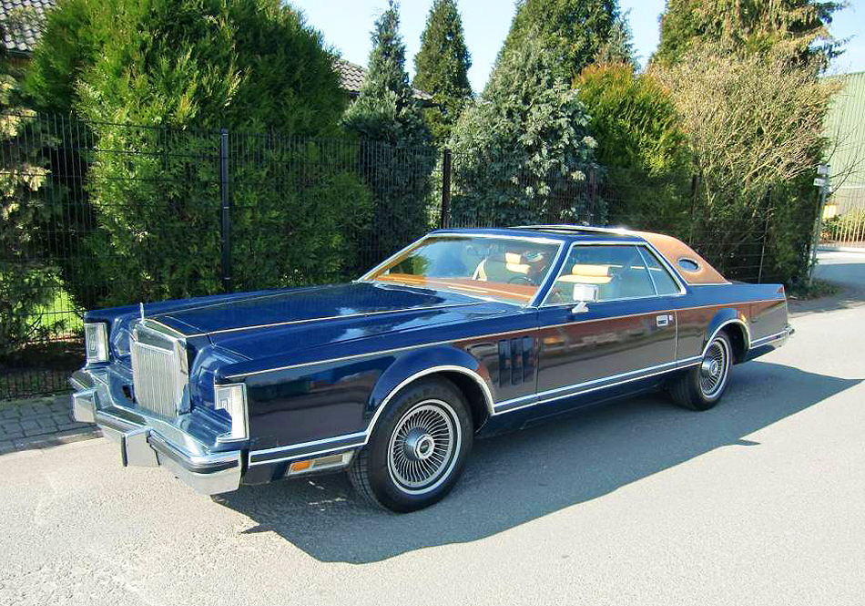 1977, Lincoln, Mark V, Bill Blass, blue