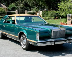 1977, Lincoln, Mark V, Givenchy, jade, green