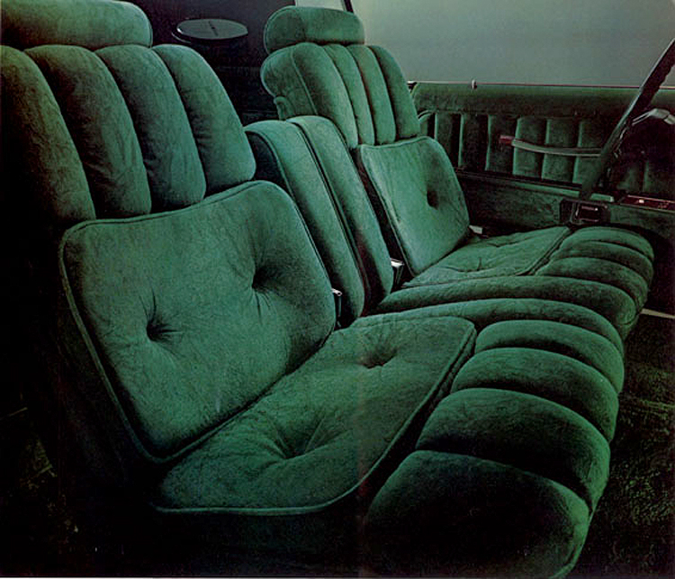 1977, Lincoln, Mark V, Givenchy, jade, green, interior