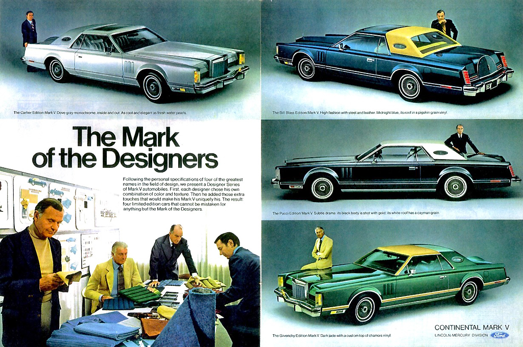 1977 Lincoln Mark V ad