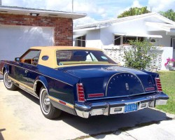 Mark V, luxury group, full vinyl roof, navy blue, 1977, Lincoln