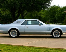 1978, lincoln, mark v, diamond jubilee, blue, side view