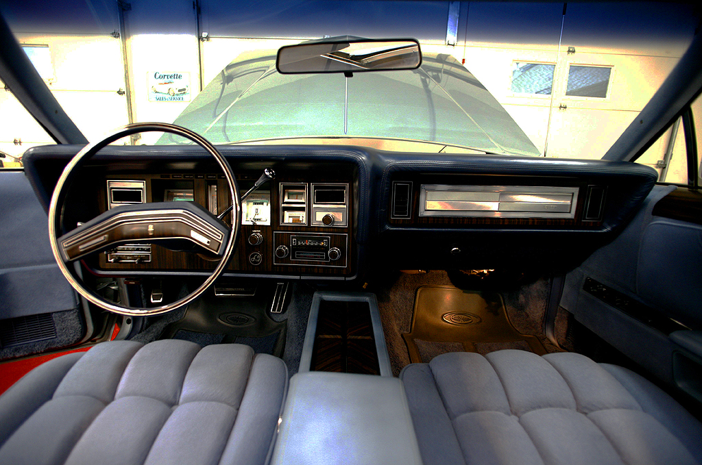 1978 Lincoln Mark V Diamond Jubilee Interior And Hood Up