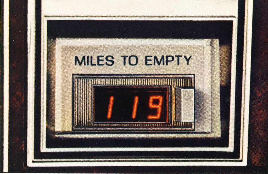 1978, Lincoln, Mark V, digital, miles to empy, gauge
