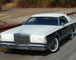 1979 Lincoln Mark V Bill Blass edition with simulated convertible top, carriage roof