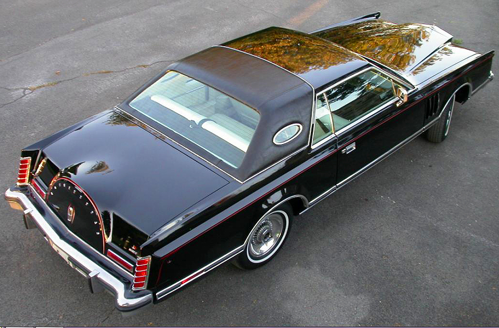black, 1979, lincoln, mark v, overhead view