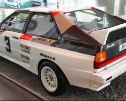 Before going into production several years later, the Quattro version of the coupe was put to the test during the 1981 rallye season, and emerged with a number of victories that year.  (Photo credit: Sean Connor)