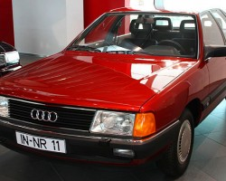 Introduced as the 1984 5000 in the United States, this model first featured the aerodynamic styling later adopted on all Audis. For the 1989 model year, the model name was changed to 100 (a return to 1970 roots). The Quattro system was next introduced on this car for its first model year 1984.  (Photo credit: Sean Connor)