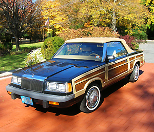 501 Chrysler Town & Country convertibles like this one were made for the 1986 model year.  SEE SLIDESHOW AT END OF ARTICLE FOR A PICTORAL TOUR OF 1982-86 LEBARONS