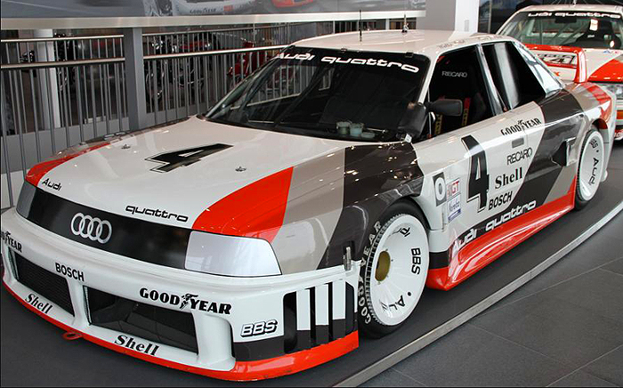 A 1988 Audi 90 IMSA GTO race car.  (Photo credit: Sean Connor)