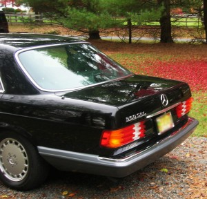 1991 mercedes 560sel left rear view classic cars today for 1991 mercedes benz 560sel