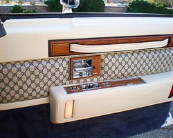 Interior door trim, as shown on this 1980 Seville Gucci edition.  (Photo credit: S. Delano)