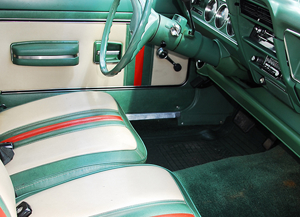 Interior view of 1972-73 Gucci Edition AMC Hornet wagons.  (Photo credit: K. Hollander)