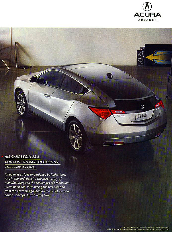 2010 Acura Zdx Advertisement Classic Cars Today Online