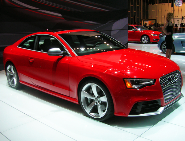 Audi introduces its RS5 performance coupe to the US market.  With a 444-horsepower 4.2-liter V8, the RS5 reaches 60mph in 4.3 seconds.  (Photo credit: Sean Connor)