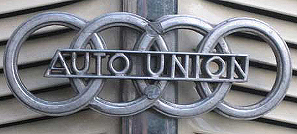 Auto Union was formed in 1932 as a merger between Audi, Horch, DKW, and Wanderer marques - all of which had been firmly established since early on in the 20th century. The four rings signify the four brands. Wanderer was discontinued after factories were destroyed during WWII, the last Horch was produced in 1953, and VW discontinued DKW after purchasing Audi in 1965. From 1965 forward, the four-ring logo has been associated with Audi alone.  (Photo credit: S. Connor)