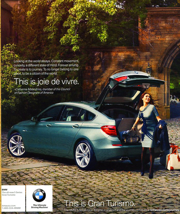 2010 BMW 5 Series Gran Turismo Advertisement