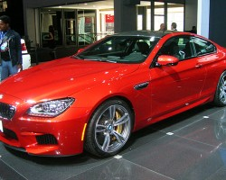 BMW also debuts its new M6 coupe, powered by a twin-turbo V8.  (Photo credit: Sean Connor)