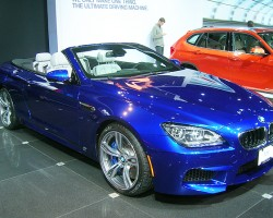 BMW's new M6 convertible makes its debut at the New York auto show next week.  (Photo credit: Sean Connor)