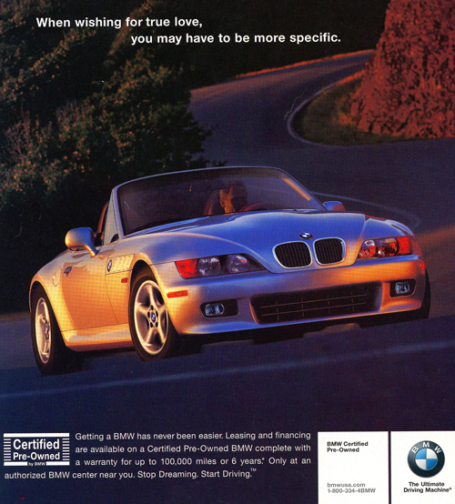 2002 Bmw Z3 Advertisement Classic Cars Today Online