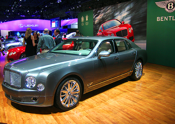 Bentley debuts the next generation of its traditional full-size Mulsanne - complete with 505 hp, 21-inch wheels and adjustable suspension.  (Photo credit: Sean Connor)