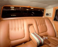 1979 Cadillac Seville Gucci rear seat